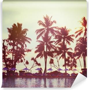 Tropical beach. Vintage instagram effect. Vinyl Wall Mural