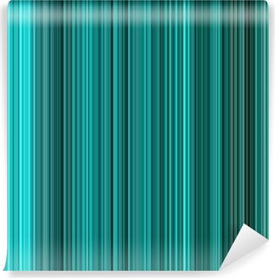 Turquoise colors abstract vertical lines background. Vinyl Wall Mural
