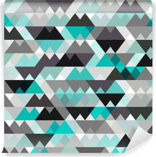 turquoise shiny vector background Vinyl Wall Mural