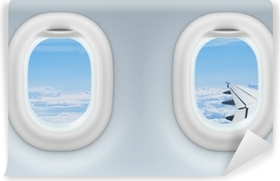 two airplane or jet windows Vinyl Wall Mural