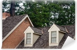 Two Dormers on Wood Shingle Roof Poster • Pixers® • We live