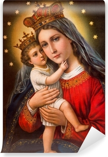 Typical catholic image of Madonna with the child Vinyl Wall Mural