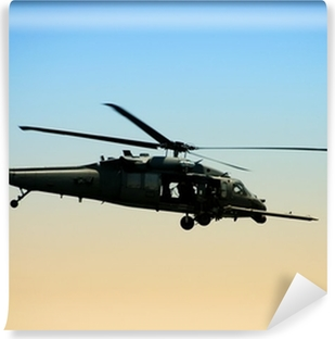 US Army helicopter in early morning Vinyl Wall Mural