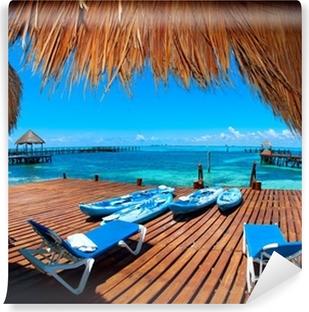 Vacation in Tropic Paradise. Isla Mujeres, Mexico Vinyl Wall Mural