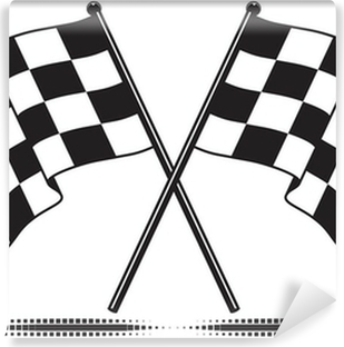 Vector checkered flags - reached the goal. Gradient free. Vinyl Wall Mural