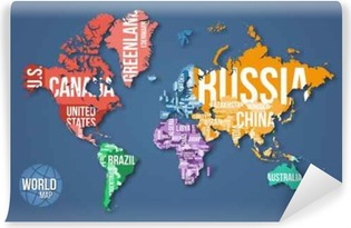 Vector detailed world map with borders and country names education vector detailed world map with borders and country names education business and travel infographic gumiabroncs Image collections