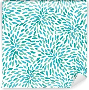 Vector flower pattern. Seamless floral background. Vinyl Wall Mural