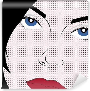 Vector Girl in Pop Art Style Vinyl Wall Mural