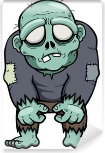 Vector illustration of Cartoon zombie Vinyl Wall Mural