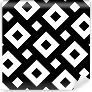 Vector Modern Seamless Geometry Pattern Squares Black And White Abstract Geometric Background Pillow Print