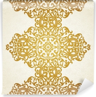 Vector seamless border in Victorian style. Element for design. Vinyl Wall Mural