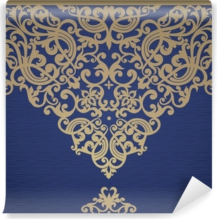 Vector seamless border in Victorian style. Vinyl Wall Mural