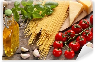 Vegetables,herbs and spices for Italian food Vinyl Wall Mural