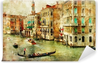Venice -artwork in painting style Vinyl Wall Mural