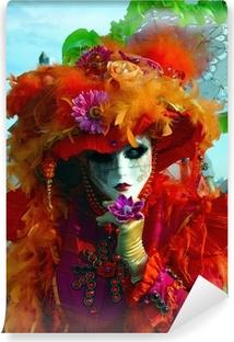 Venice carnival. Mask on the street Vinyl Wall Mural