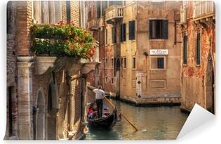 Venice, Italy. Gondola on a romantic canal. Vinyl Wall Mural