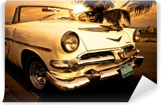 Vieille voiture américaine, Cuba Vinyl Wall Mural