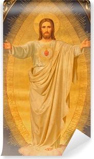 Vienna - Heart of Jesus paint on altar of Sacre Coeur church Vinyl Wall Mural