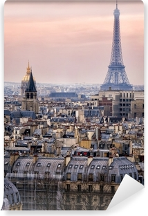 View of Paris and of the Eiffel Tower from Above Vinyl Wall Mural