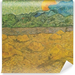 Vincent van Gogh - Evening landscape with rising moon Vinyl Wall Mural