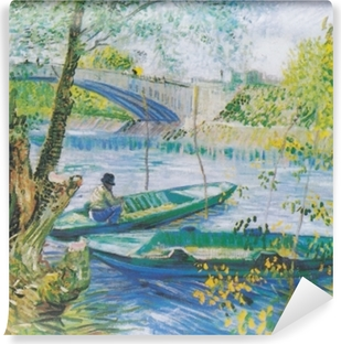 Vincent van Gogh - Fishing in Spring Vinyl Wall Mural