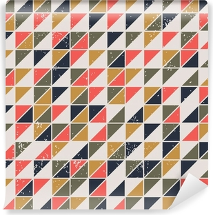 Vintage abstract seamless pattern with triangles Vinyl Wall Mural