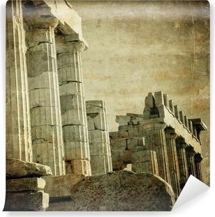 Vintage image of greek columns, Acropolis, Athens, Greece Vinyl Wall Mural