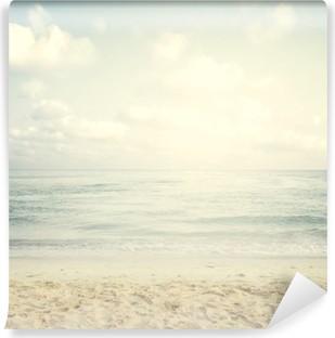 Vintage tropical beach in summer Vinyl Wall Mural