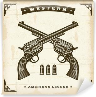 Vintage Western Revolvers Vinyl Wall Mural