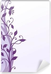 Violet flowers Vinyl Wall Mural