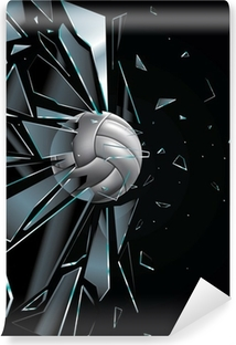 Volleyball Ball Set 5 Vinyl Wall Mural