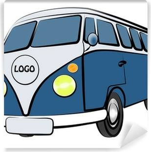 VW Bus Vinyl Wall Mural