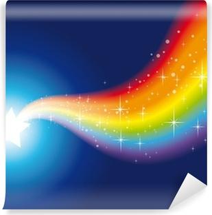 wand rainbow sparkles 2 Vinyl Wall Mural