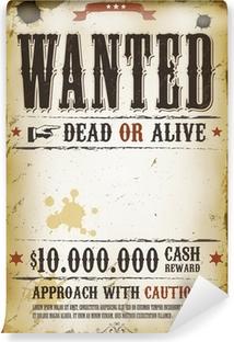 Wanted Vintage Western Poster Vinyl Wall Mural