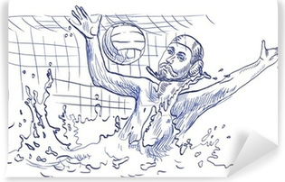 water polo, goalkeeper - hand drawing Vinyl Wall Mural