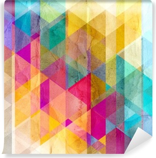 Watercolor geometric background with triangles Vinyl Wall Mural