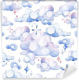 Watercolor sky pattern Vinyl Wall Mural