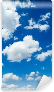 White clouds in the blue sky. Cloudscape Vinyl Wall Mural