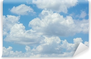 white clouds on blue sky Vinyl Wall Mural