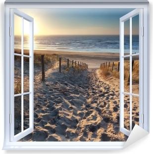 White open window - North Sea Vinyl Wall Mural