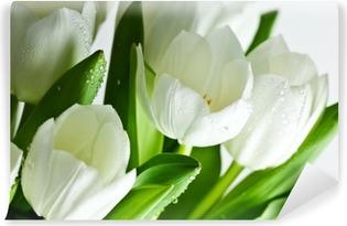 White Tulips Vinyl Wall Mural