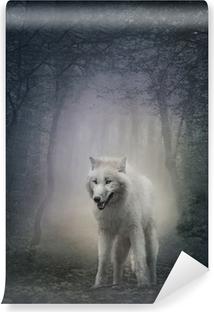 White wolf Vinyl Wall Mural