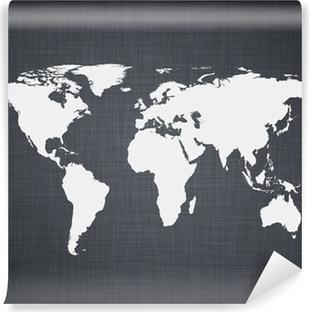White world map. Vinyl Wall Mural