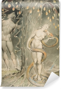 William Blake - Eve Tempted by the Serpent Vinyl Wall Mural