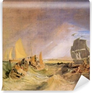 William Turner - Shipping at the Mouth of Thames Vinyl Wall Mural