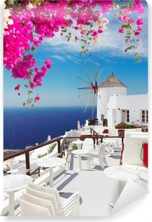 windmill of Oia, Santorini Vinyl Wall Mural
