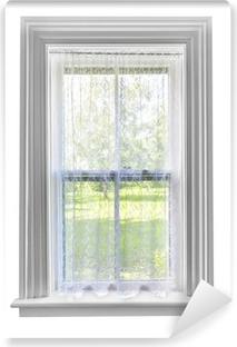 Window with lace curtain Vinyl Wall Mural