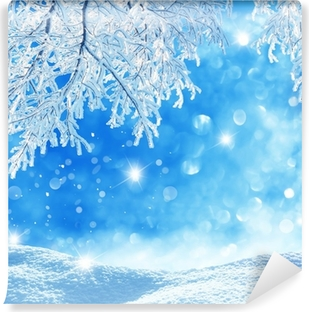 winter background Vinyl Wall Mural