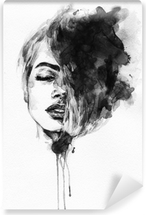 Woman face. Fashion illustration Vinyl Wall Mural