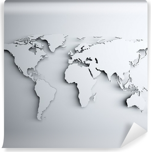 World map 3D Vinyl Wall Mural